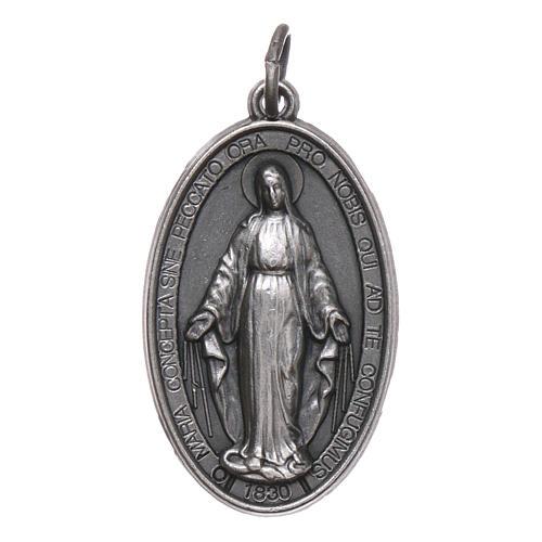 Médaille Vierge Miraculeuse métal argenté 28 mm 1
