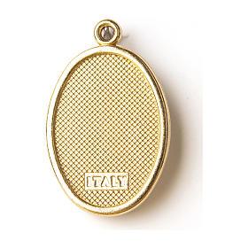 Médaille dorée avec image résinée Christ Miséricordieux s2