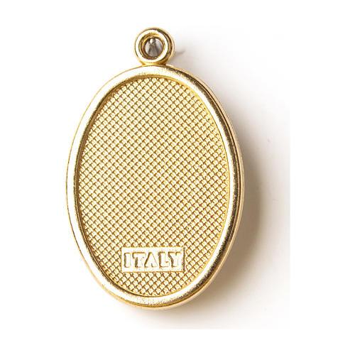 Médaille dorée avec image résinée Christ Miséricordieux 2