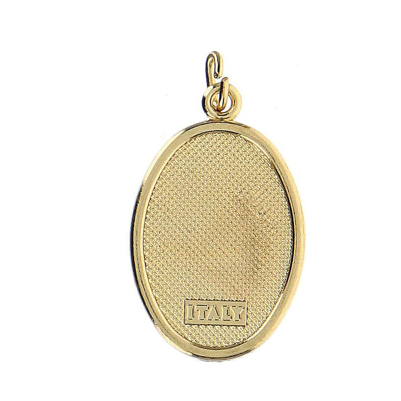 Medalla Dorada con imagen Resinada Medalla Milagrosa 4