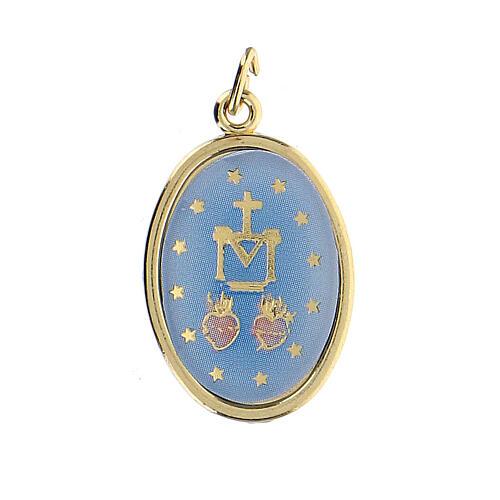 Medalla Dorada con imagen Resinada Medalla Milagrosa