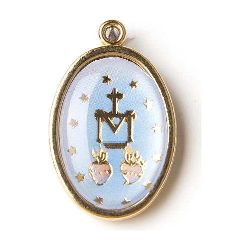 Medalik pozłacany z wizerunkiem z masy żywicznej Cudowny Medalik 1