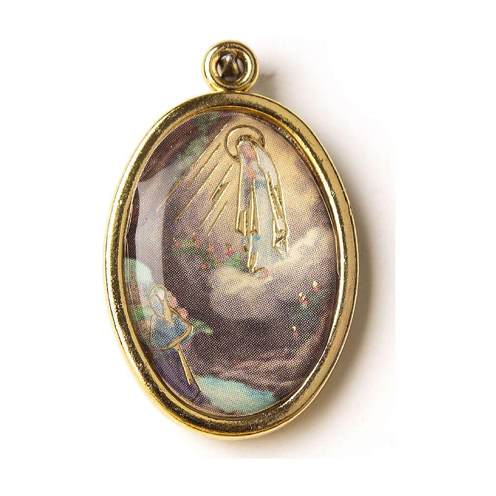 Medalha dourada Nossa Senhora de Lourdes 4