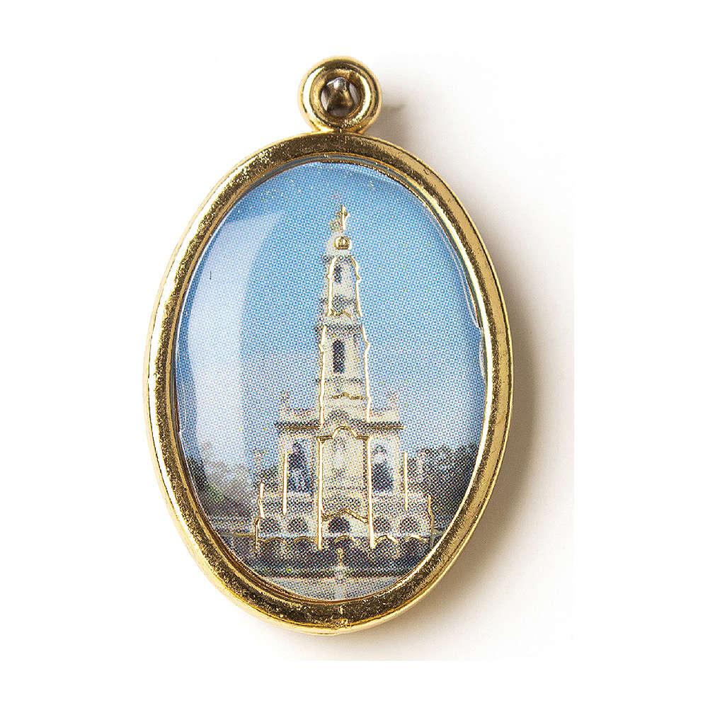 Medaglia Dorata con immagine Resinata Santuario di Fatima 4