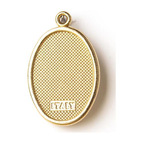 Medalha dourada com imagem resina Madonnina de Ferruzzi 2