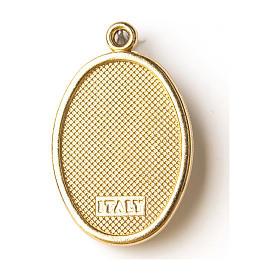 Medalla Dorada con imagen Resinada Buen Pastor s2