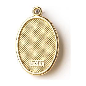 Médaille dorée image résinée Medjugorje s2