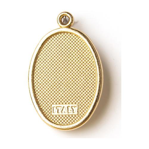 Médaille dorée image résinée St Michel 2