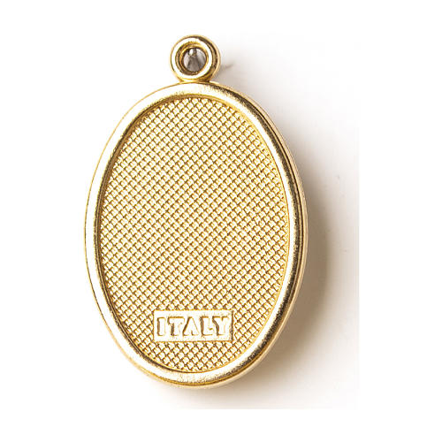 Médaille dorée image résinée Ste Rita 2
