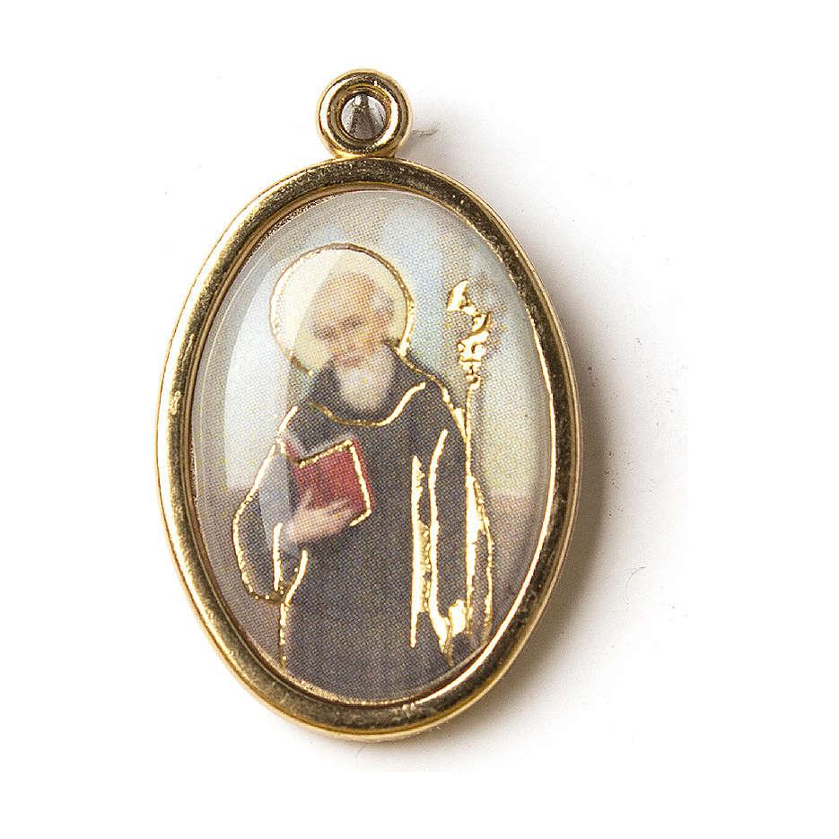 Medaglia Dorata con immagine Resinata San Benedetto 4
