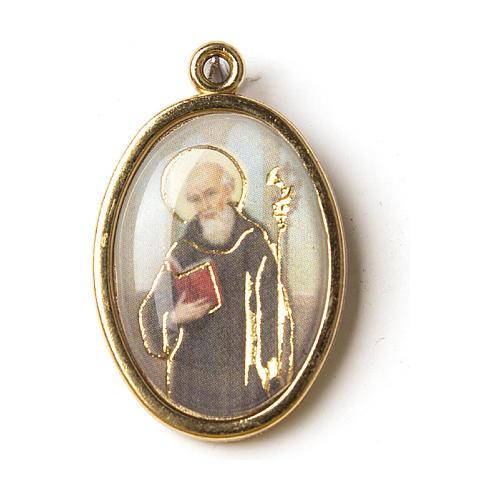 Medaglia Dorata con immagine Resinata San Benedetto 1