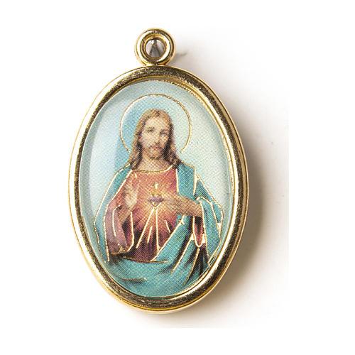 Medaglia Dorata con immagine del Sacro Cuore di Gesù 1
