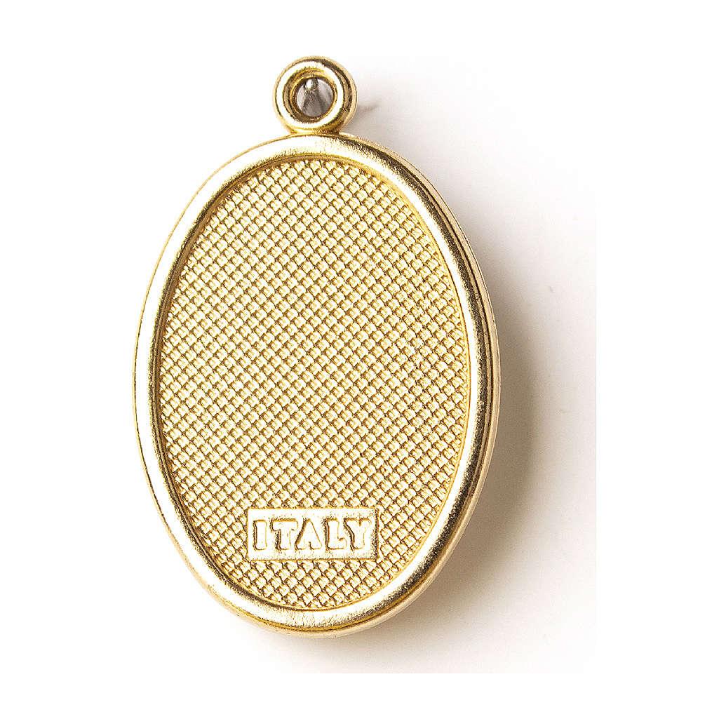 Médaille dorée image résinée N.D. de Lourdes 4