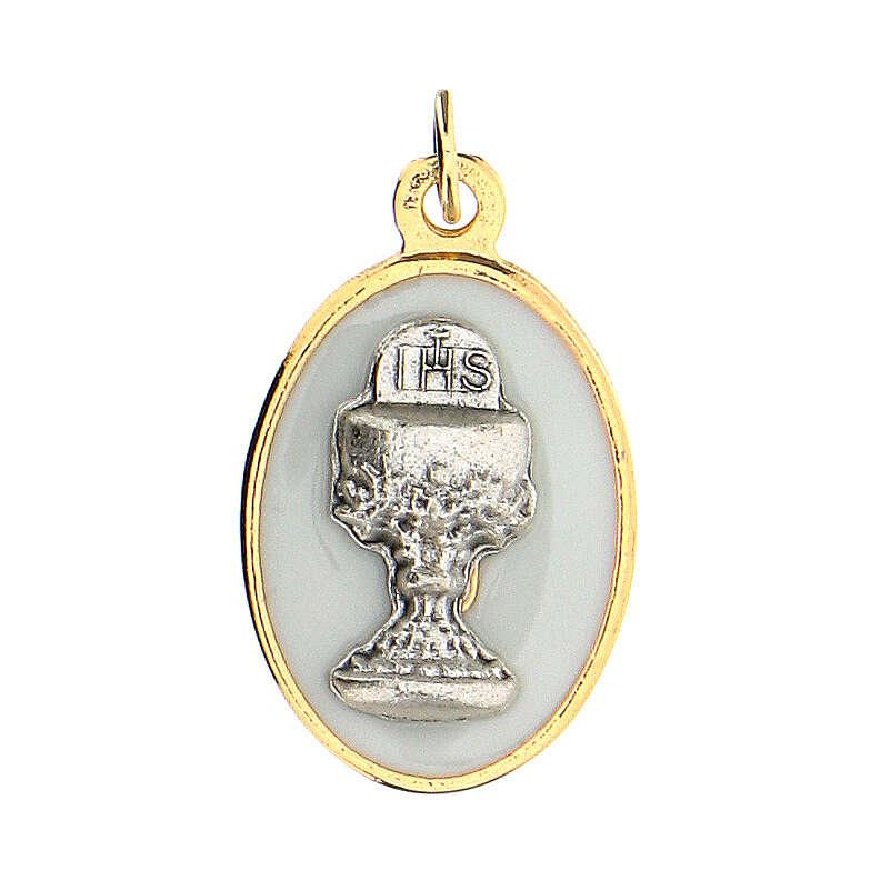 Medalla ovalada dorada cáliz 2 cm 4