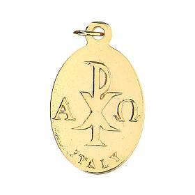Medalla ovalada dorada cáliz 2 cm s2