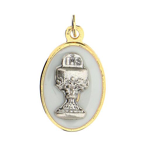 Medalla ovalada dorada cáliz 2 cm 1