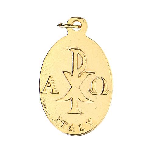 Medalla ovalada dorada cáliz 2 cm 2