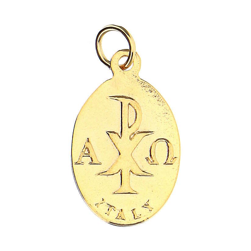 Medalla dorada símbolo Confirmación 2 cm 4