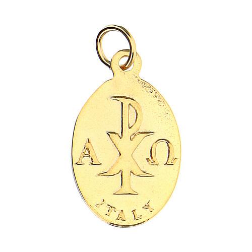 Medalla dorada símbolo Confirmación 2 cm 2