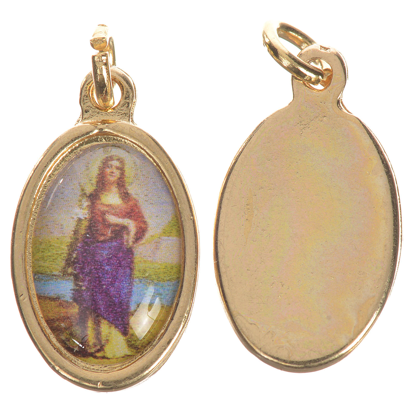 Medaglia Santa Filomena dorata 1,5 cm 4