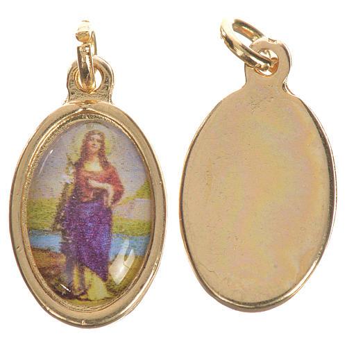 Medaglia Santa Filomena dorata 1,5 cm 1