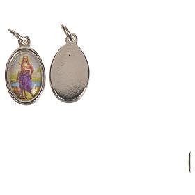 Saint Philomena Medal in silver metal, 1.5cm s2