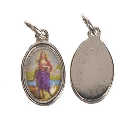 Saint Philomena Medal in silver metal, 1.5cm 1