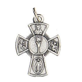Medaglietta croce metallo Comunione 2 cm s1