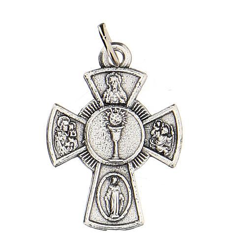 Medaglietta croce metallo Comunione 2 cm 1