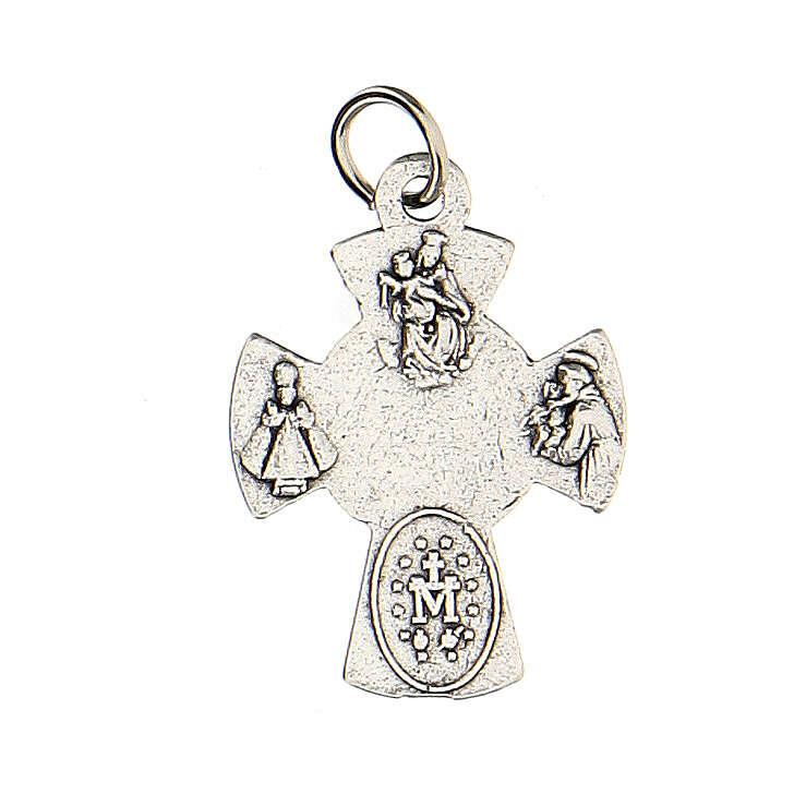 Medalla cruz Confirmación metal 2 cm 4