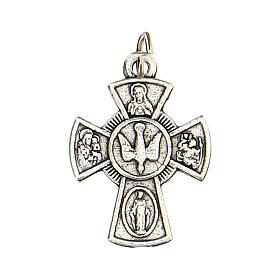 Medalla cruz Confirmación metal 2 cm s1