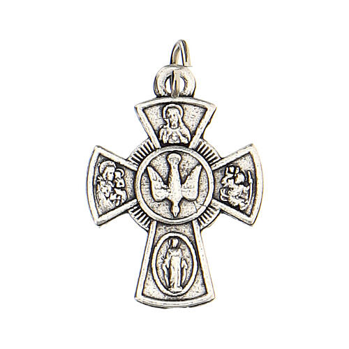 Medalla cruz Confirmación metal 2 cm 1