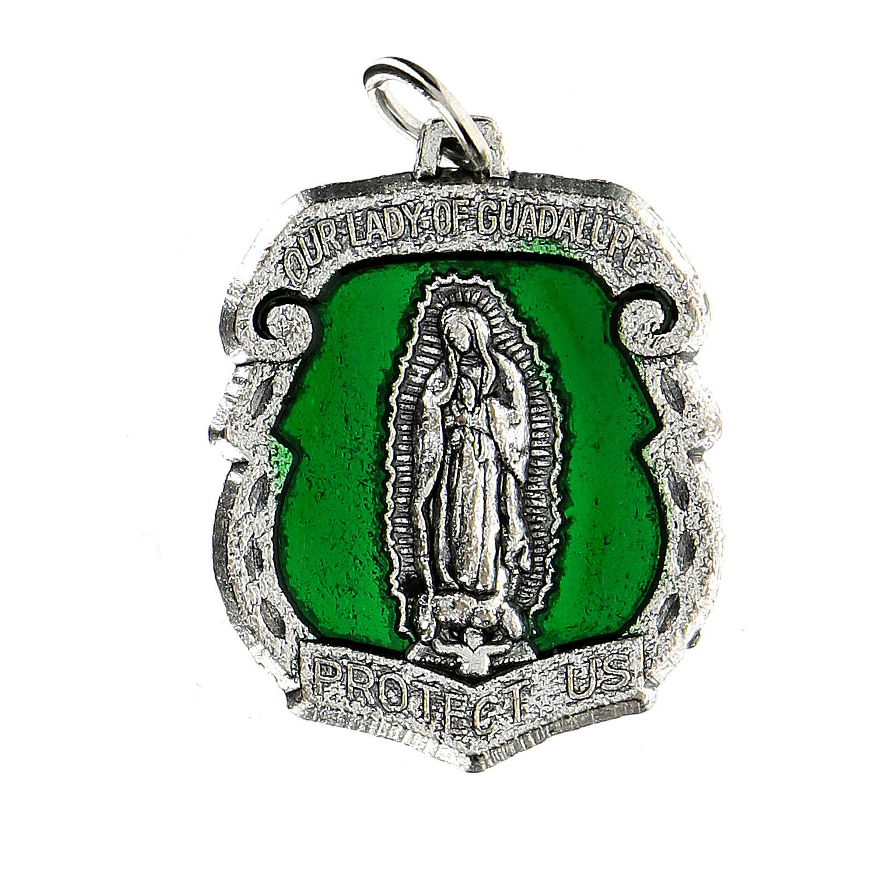 Medaglia devozionale Madonna di Guadalupe 3,5 cm INGLESE 4