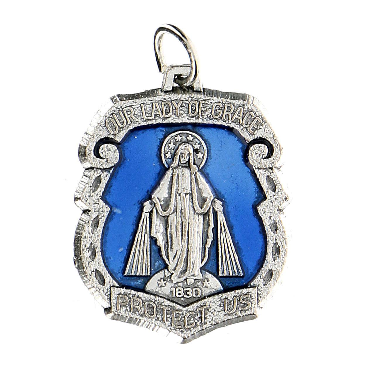 Medaglia devozionale Madonna Miracolosa 3,5 cm 4