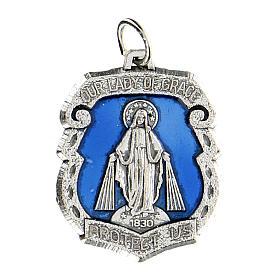 Medaglia devozionale Madonna Miracolosa 3,5 cm INGLESE s1