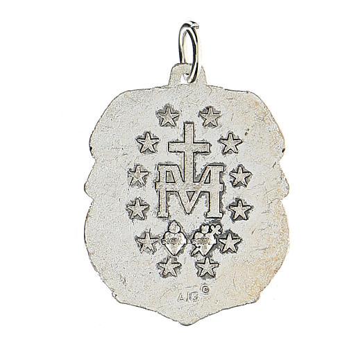 Medaglia devozionale Madonna Miracolosa 3,5 cm INGLESE 2
