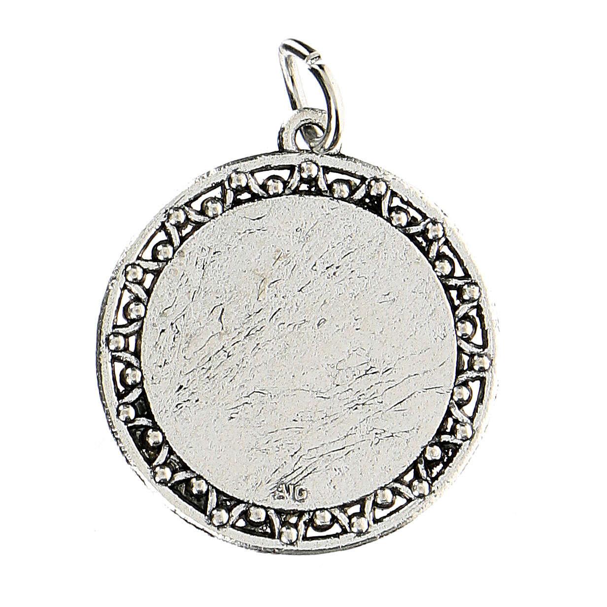 Medalla oración Padre nuestro en INGLÉS 3 cm  4