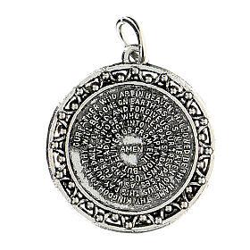 Medalla oración Padre nuestro en INGLÉS 3 cm  s1