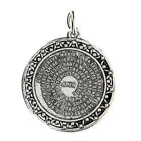 Medalla oración Ave María en ESPAÑOL 3 cm s1