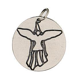Medalla Confirmación con Paloma del Espíritu Santo 1,5 cm s1