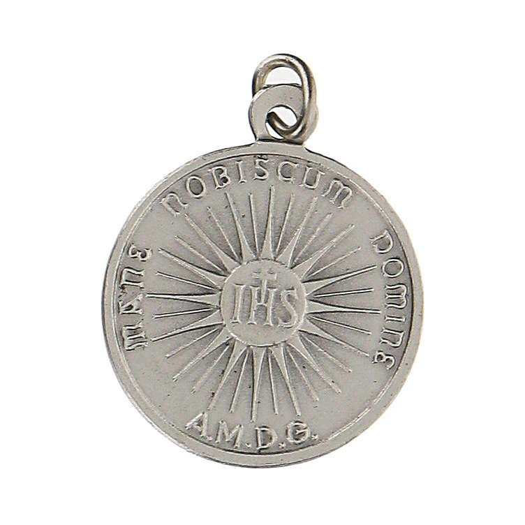 Medalla con rostro de Jesús con incisión en latín 1,5 cm 4
