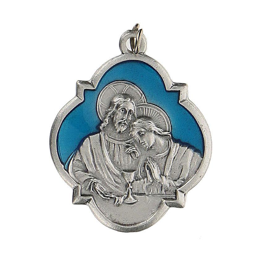 Medalla recuerdo de la Comunión con esmalte 3 cm zamak 4