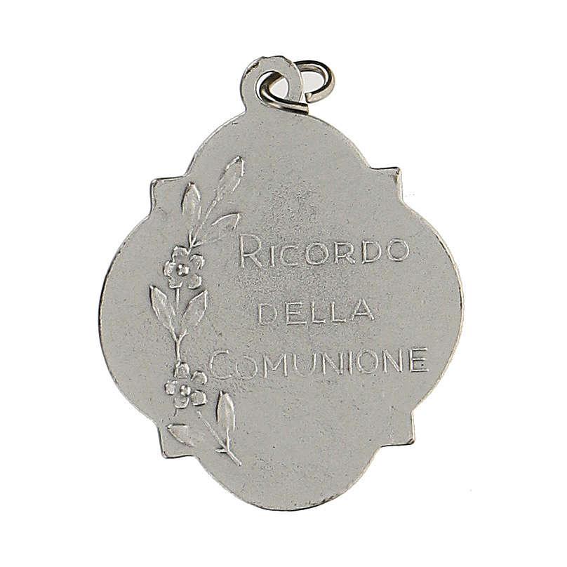 Medaglia ricordo della Comunione con smalto 3 cm zama 4