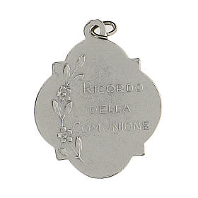Medaglia ricordo della Comunione con smalto 3 cm zama s2