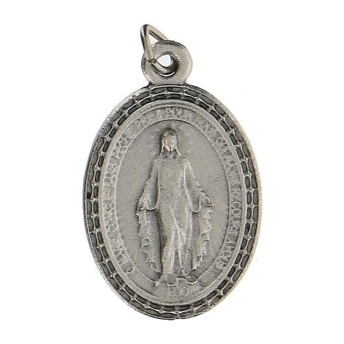 Colgante medalla con Virgen Milagrosa 2,5 cm zamak 1