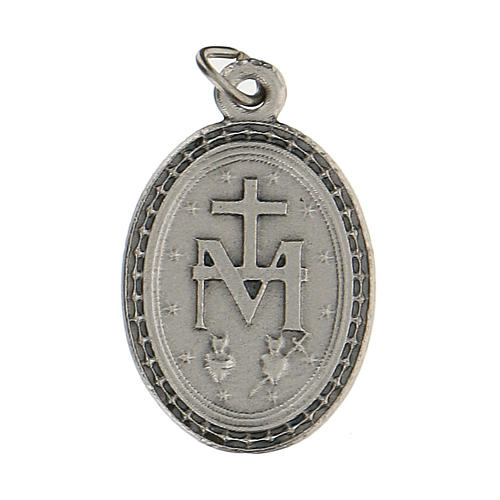 Colgante medalla con Virgen Milagrosa 2,5 cm zamak 2