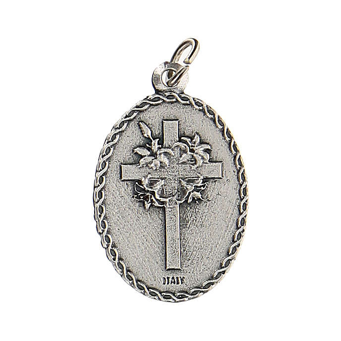 Medaglia con San Cristoforo con rilievo 2,5 cm zama 4