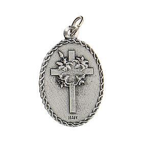 Medaglia con San Cristoforo con rilievo 2,5 cm zama s2