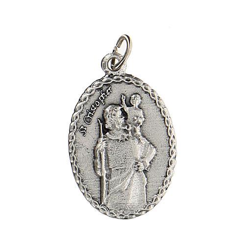 Medaglia con San Cristoforo con rilievo 2,5 cm zama 1