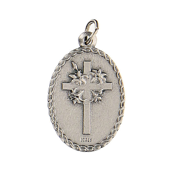 Medalla ovalada con Padre Pío 2,5 cm zamak 4